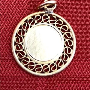Jewelry - Vintage Gold on Sterling Round Pendant/Charm